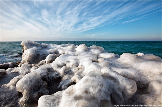 Frozen beach - the lair of aliens, Sevastopol, Ukraine view 5