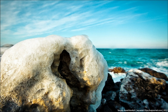 Frozen beach - the lair of aliens, Sevastopol, Ukraine view 6