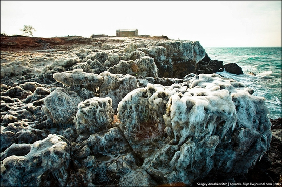 Frozen beach - the lair of aliens, Sevastopol, Ukraine view 7