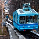 Kiev electric cable railway