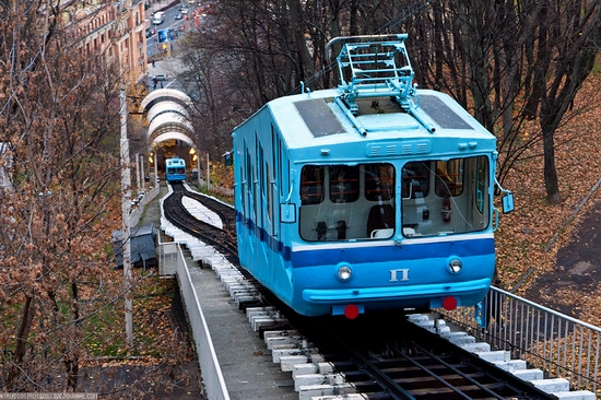 Kiev electric cable railway view 1