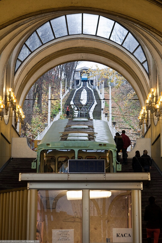 Kiev electric cable railway view 2