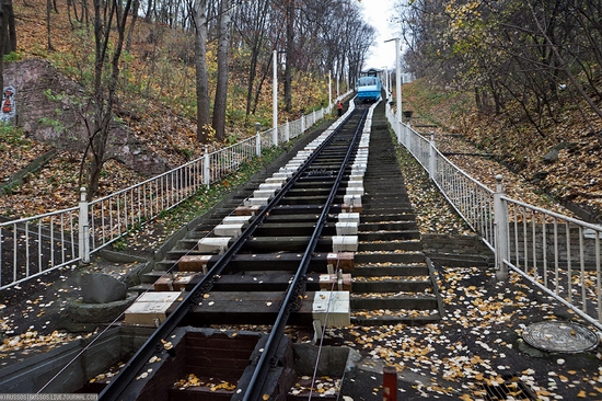 Kiev electric cable railway view 3