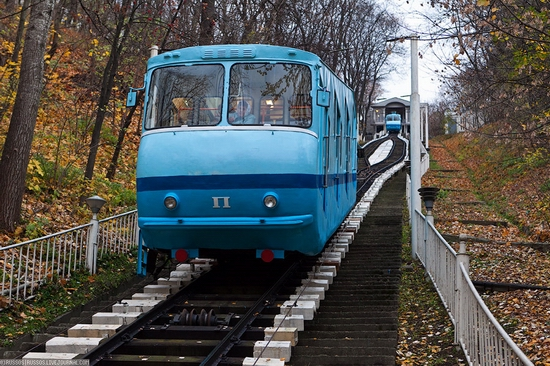 Kiev electric cable railway view 4