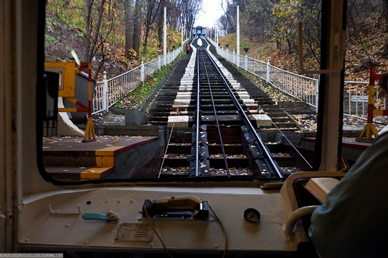 Kiev electric cable railway view 7