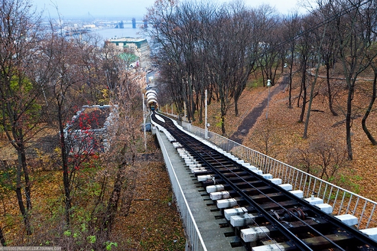 Kiev electric cable railway view 8