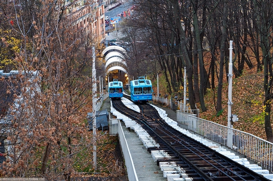 Kiev electric cable railway view 9
