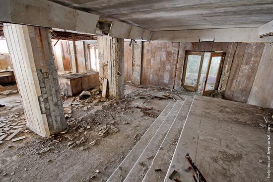 Snow-covered Pripyat, Ukraine view 12