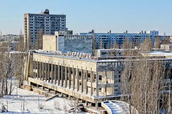 Snow-covered Pripyat, Ukraine view 15