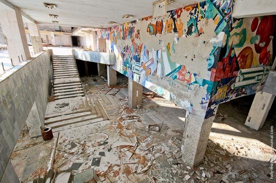 Snow-covered Pripyat, Ukraine view 17