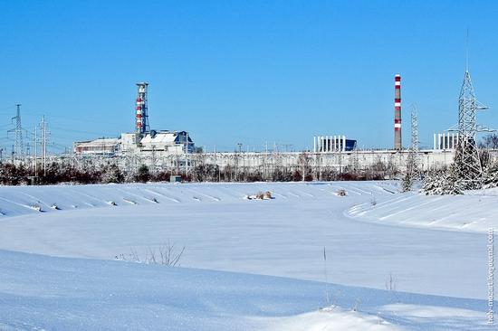 Snow-covered Pripyat, Ukraine view 19