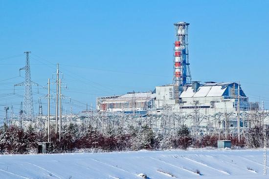 Snow-covered Pripyat, Ukraine view 20