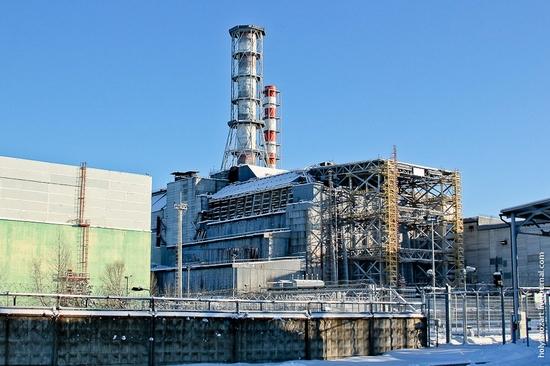 Snow-covered Pripyat, Ukraine view 21