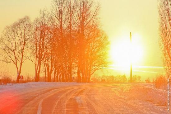 Snow-covered Pripyat, Ukraine view 24