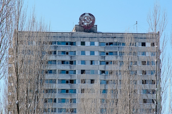 Snow-covered Pripyat, Ukraine view 7