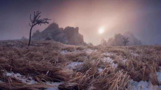 Mysteries of foggy and frozen Crimea, Ukraine view 4