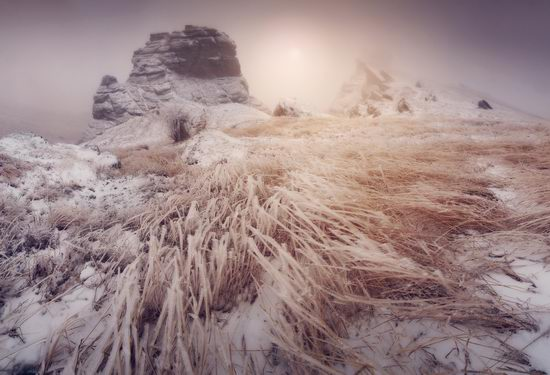 Mysteries of foggy and frozen Crimea, Ukraine view 7