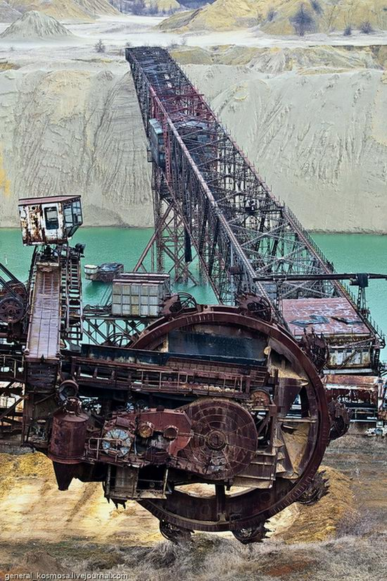 Post-apocalyptic views of abandoned mine, Ukraine 9