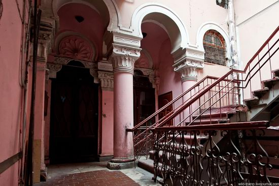 The staircases of Odessa houses, Ukraine view 1