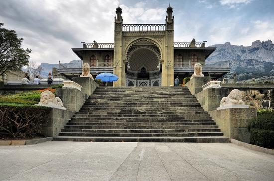 Vorontsov Palace, Alupka, Crimea, Ukraine view 1