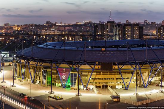 Metalist - Euro 2012 stadium, Kharkov, Ukraine view 1