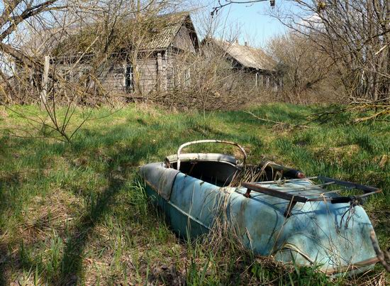 Spring in the Chernobyl exclusion zone, Ukraine view 4