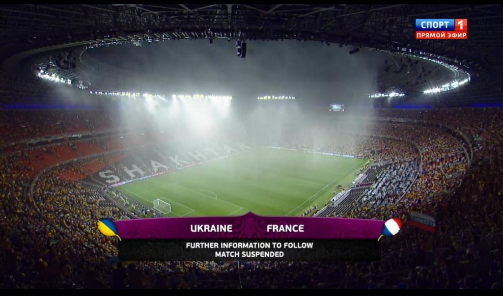 Downpours Euro 2012 Ukraine France