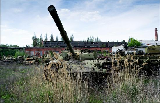 Kharkov tank repair plant, Ukraine view 1