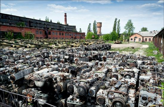 Kharkov tank repair plant, Ukraine view 16