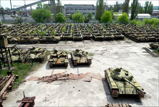 Kharkov tank repair plant, Ukraine view 17