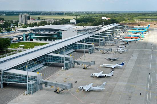 New terminal D, Borispol airport, Ukraine view 1