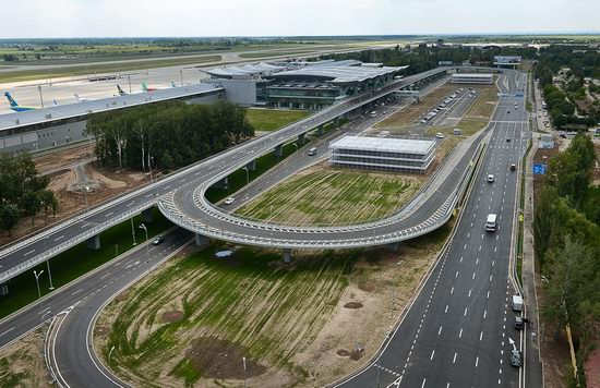New terminal D, Borispol airport, Ukraine view 2