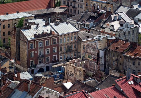 Lviv city, Ukraine roofs view 6