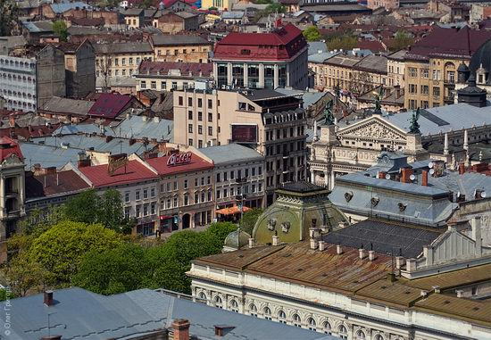 Lviv city, Ukraine roofs view 8