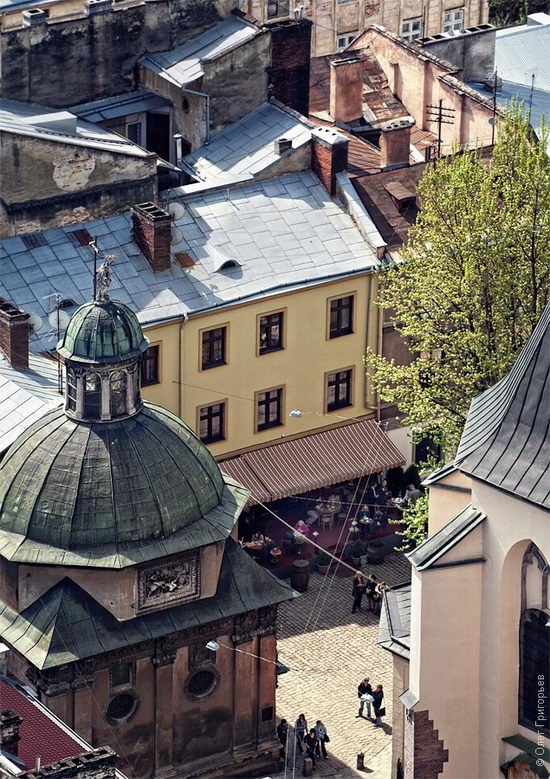 Lviv city, Ukraine roofs view 9