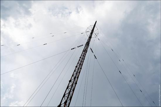 Climbing the 250 meter tower, Kharkov oblast, Ukraine photo 2