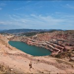 Picturesque abandoned quarry near Sevastopol