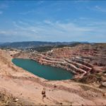Picturesque abandoned quarry near Sevastopol
