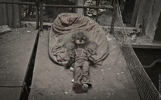 Abandoned kindergarten in the Chernobyl zone, Ukraine