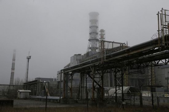 Chernobyl nuclear power station new sarcophagus, Ukraine photo 2