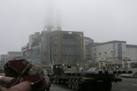 Chernobyl nuclear power station new sarcophagus, Ukraine photo 3