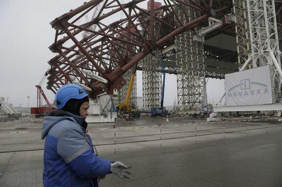 Chernobyl nuclear power station new sarcophagus, Ukraine photo 4