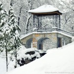 Snowy winter in one of the best European parks