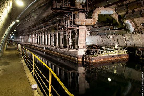 base submarina subterrânea em Balaklava, Crimeia, Ucrânia foto 12