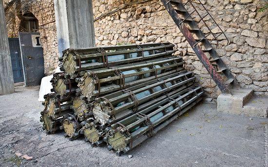 base submarina subterrânea em Balaklava, Crimeia, Ucrânia Foto 18