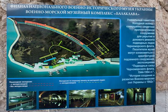 base submarina subterrânea em Balaklava, Crimeia, Ucrânia Foto 19