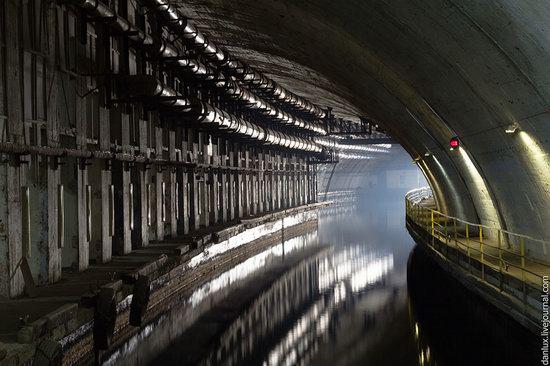 base submarina subterrânea em Balaklava, Crimeia, Ucrânia foto 7