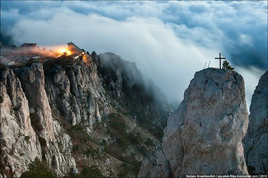 Ai-Petri - foggy and windy peak, Crimea, Ukraine photo 1