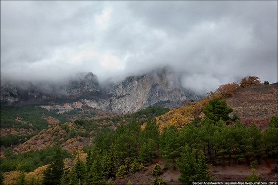 Ai-Petri - foggy and windy peak, Crimea, Ukraine photo 11