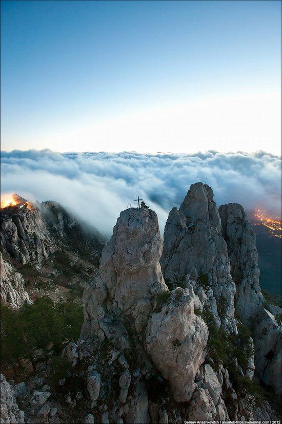 Ai-Petri - foggy and windy peak, Crimea, Ukraine photo 3